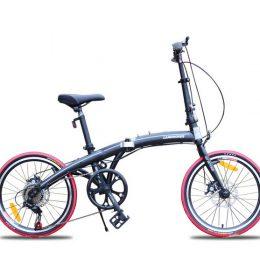 Sepeda Lipat 20 inci Mini Asli Import Hitam