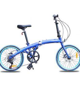 Sepeda Lipat Mini 20 inci Asli Import Biru