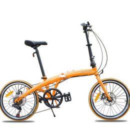 Sepeda Lipat Mini 20 inci Ultra Ringan Asli Import Orange