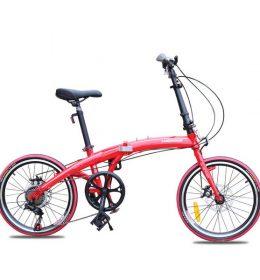 Sepeda Lipat Ultra Ringan Asli Import Merah