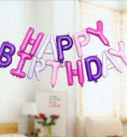 Set Balon Happy Birthday US Version of Thin Body Balloon