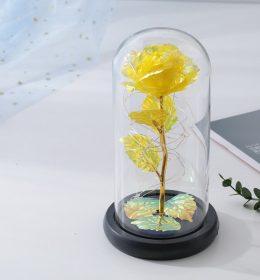 Dekorasi Lampu Tumblr dan Mawar Kuning