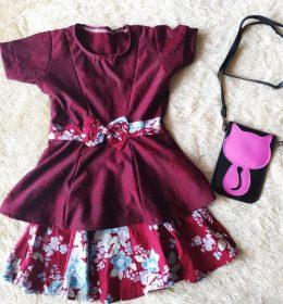 Dress Anak 1 Set Atasan dan Rok
