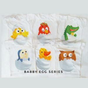 Kaos Bayi Lucu Babby Egg And Animal Series