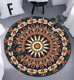Karpet Bulat Motif Tribal
