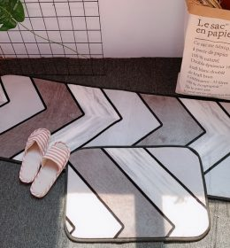 Karpet Dapur Motif Chevron Zig Zag
