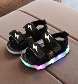 Sepatu Sandal Anak LED Anti Gerah Anti Slip