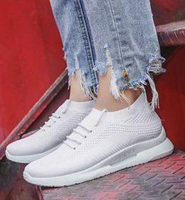 Sepatu Sneakers Wanita Full White