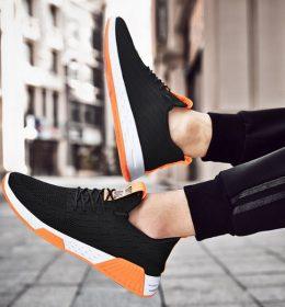 Sepatu Sport Fashion Pria Putih Orange