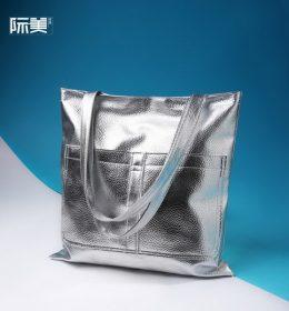 Tas Tote Bag Bahan Metalik