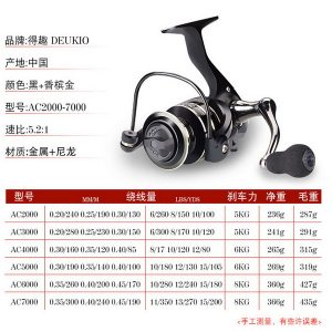 Reel Pancing Deukio Import Model AC4000