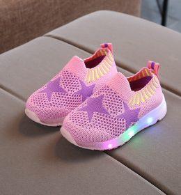 Sepatu Slip On Anak LED Import