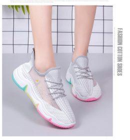 Sepatu Sneakers Wanita Sol Rainbow Kekinian