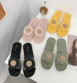 Sandal Flat Bunga Matahari Anti Air