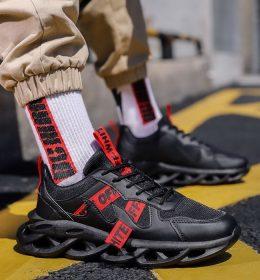 Sepatu Sneakers Keren Black Offwhite