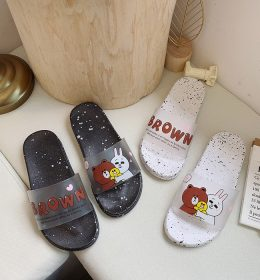 Summer Slipper Sandal Brown n Cony Line