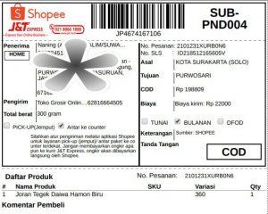 Cara Mudah Cetak Label Pengiriman Shopee