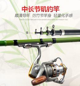 Joran Tegek Setting Hijau Daun Motif Bamboo