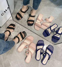 Sandal Flat Wanita Jelly Tali